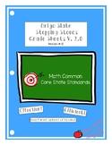 Origo Slate Stepping Stones Grade 3 Module 1-12 Grade Shee