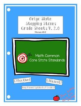 Origo Slate Stepping Stones Grade 4 Module 1-12 Grade Sheets Version 2.0
