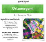 Orizomegami Art Lesson Plan (Japanese Art Using Classroom Materials)