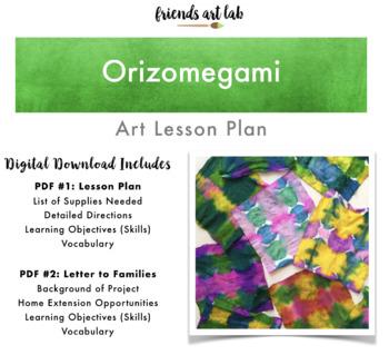 Orizomegami Art Lesson Plan (Japanese Art Using Classroom Materials)