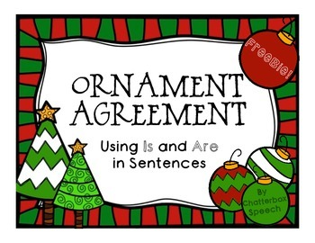 Ornament Agreement: Using Is and Are in Sentences