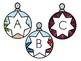 Ornament Alphabet Christmas Tree Matching Game