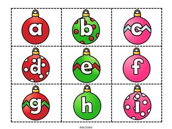 Ornament Alphabet Matching Cards