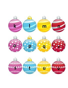 Ornament Alphabet and numbers 1-20