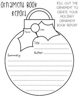 Ornament Book Report