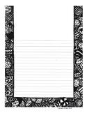 Ornament Border Writing Paper