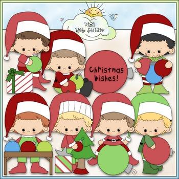 Ornament Boys Clip Art - Christmas Clip Art - CU Clip Art & B&W