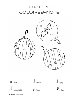 Ornament Color-By-Note