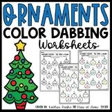 Ornament Color Dabbing Worksheets