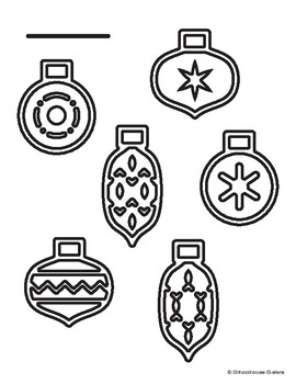 Ornament Coloring Sheet