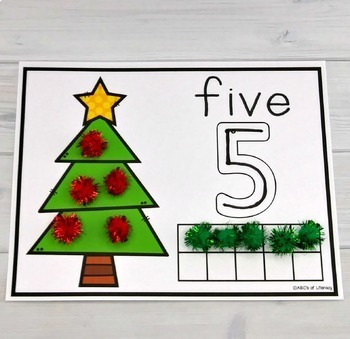 Ornament Counting Mats #1-20