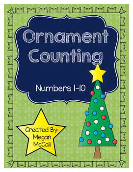 Ornament Counting: Numbers 1-10--Color & Blackline