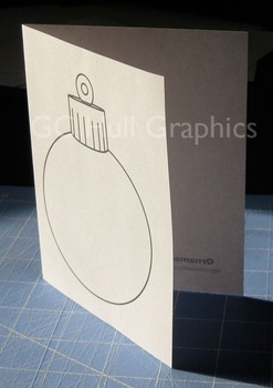 Ornament Craft Card Template PDF