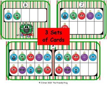Ornament Emoji Counting with 5, 10 & 20 Frames {Subitizing}