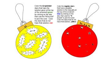 Ornament Exchange: Solving Equations & Inequalities