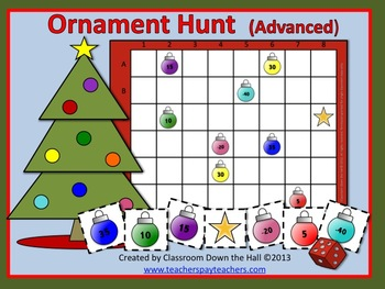 ornament hunt advanced math game for christmas by classroom down