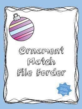 Ornament Match File Folder FREEBIE!