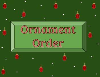 Ornament Order (Christmas Math Game)