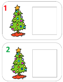 Ornament Play Doh Counting Mats