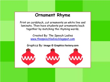 Ornament Rhyme