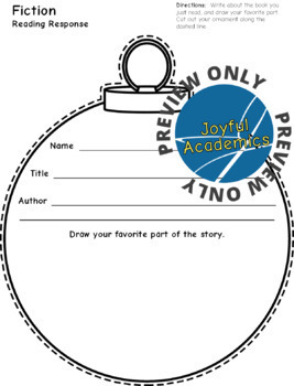 Ornament Shaped Reading Response Sheets for Any Book
