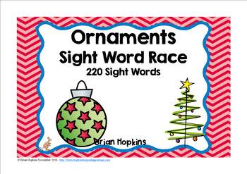Ornament Sight Word Race