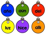 Ornament Themed Spanish High Frequency Word Write the Room