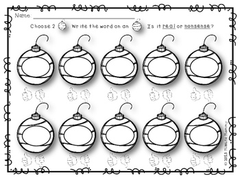 Ornament Words FREEBIE