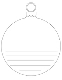 Ornament Writing Template