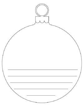 christmas ornament writing template teaching resources teachers