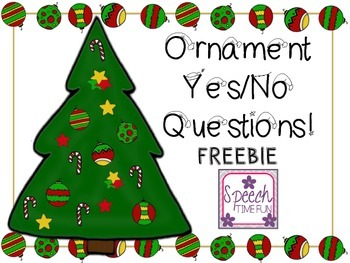 Ornament Yes-No Questions FREEBIE!