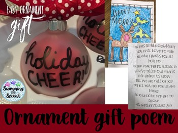 Ornament poem and card freebie