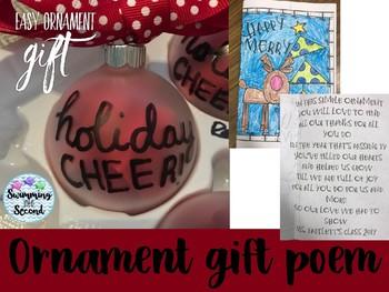 Ornament poem and card freebie