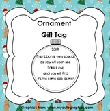 Ornament with Ribbon Gift Tag with Poem 2019