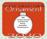 Ornament with Ribbon Gift Tag Poem 2020 * parent holiday C
