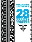 Ornamental Elements - Borders / Frames / Digital Papers