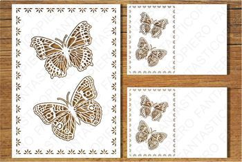 Greeting Card with Butterflies SVG files for Silhouette Cameo and Cricut.
