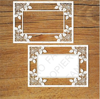 Ornamental Frame (2) SVG files for Silhouette Cameo and Cricut.