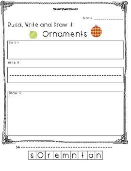 Ornaments- Build it, Write it, Draw it