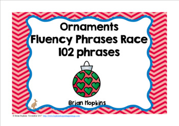 Ornaments Sight Word Fluency Phrases Race