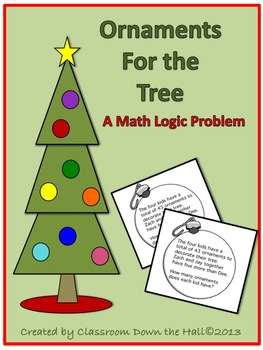 Ornaments for the Tree: Logical Thinking Math Activity