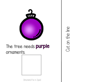 Christmas Ornaments Adapted Book for Preschool, Pre-K and Special Needs