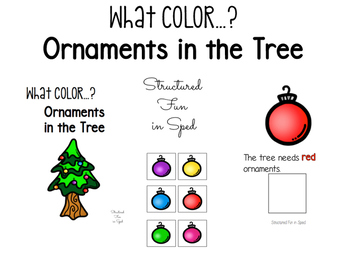 Ornaments in the Tree Color Adapted Book