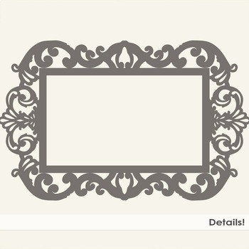 Ornate Fancy Frames, Formal Decorative Frame, Elegant, Gothic Clip Art Label