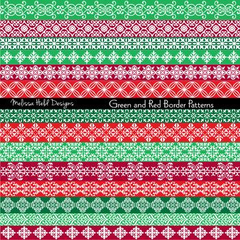 Clipart: Ornate Christmas Borders Clip Art