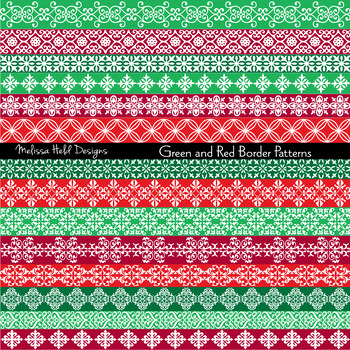 Green and Red Border Patterns