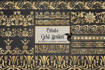 Ornate Gold Borders Clipart
