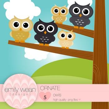 Ornate - Owl Clip Art