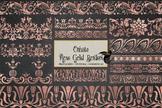 Ornate Rose Gold Borders clip art