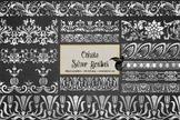 Ornate Silver Borders Clipart